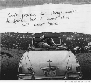 Can't promise that things won't be broken but I swear that I will ...