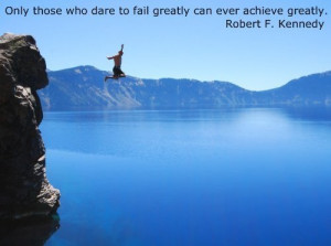 ... picture quote with Robert F Kennedy about failure and success in life