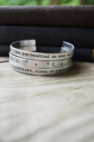 Sylvia Plath Quote Bracelet Set (3) - Modern - Romantic - Looks Like ...