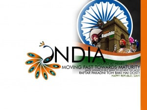 Happy Republic Day . 2013 INDIA young at heart only 63 Moving fast ...