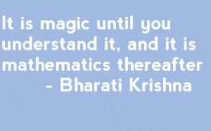 Quotable maths: Krishna