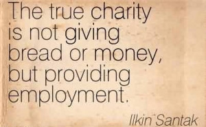 Popular Charity Quote ~ The true charity is not giving bread or money ...