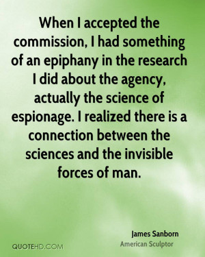 When I accepted the commission, I had something of an epiphany in the ...