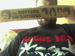 graphic on this belt introduces us to Mr. Kotter and his Sweathogs ...