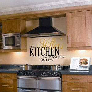 wall decor quotes – custom kitchen quote vinyl wall lettering decor ...