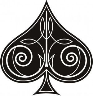 Decorative Ace of Spades Wall Sticker Sports And Hobbies Wall Art ...