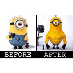 Minion fitness #fitness #humor #trainingday #workout More