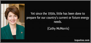 Yet since the 1950s, little has been done to prepare for our country's ...