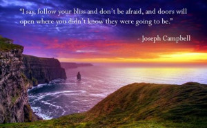 say, follow your bliss and don't be afraid, and doors will open ...