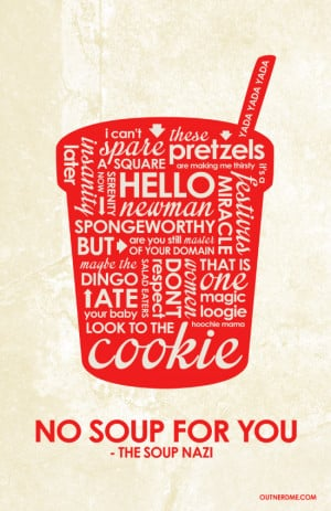 Jerry Seinfeld Inspired Quote Poster by outnerdme