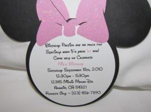 Minnie Mouse Invitations for birthday Set of 10