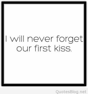 First kiss quote