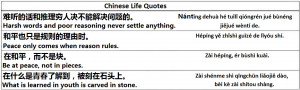 Chinese Life Quotes