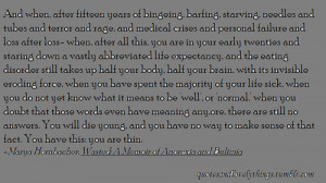 quotes recovery quotes anorexia quotes marya hornbacher quotes bulimia ...