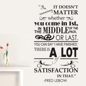 Running Quote Wall Decal