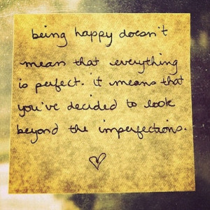 Look beyond the imperfections..
