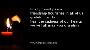 remembrance poems grandma