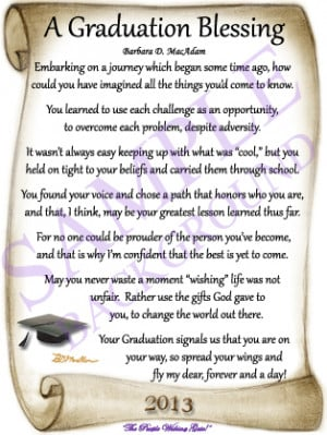 Spiritual Graduation Poems
