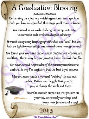 Religious Graduation Poems And Quotes Quotesgram