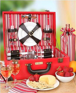 Made just for two, this gorgeous picnic case contains all the ...