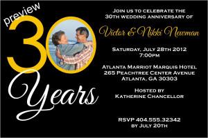 30th Wedding Anniversary Invitations Latest Wedding Anniversary ...