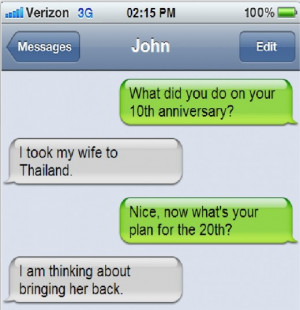 Funny Anniversary iPhone Message