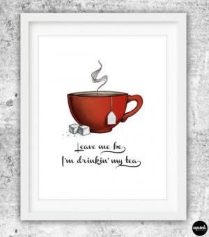 TEA PRINT Giclee Art Print by SquinkStudio on Etsy, $20.00