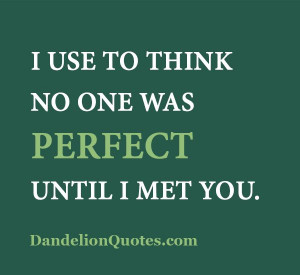 ... perfect-until-i-met-you I use to think no one was perfect until I met
