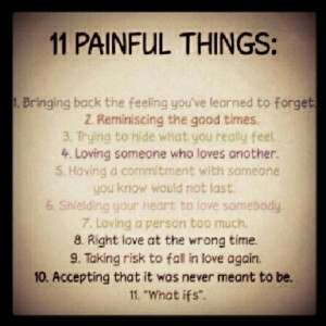 11 painful things #hurt #quote #dailylife #life #love