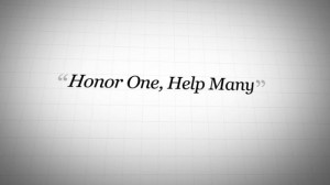 Products for Good : Honor One Help Many Quotes