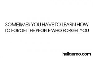 Sometimes You Have to Forget –