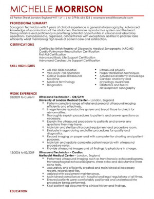 Ultrasound Technician Resume Sample