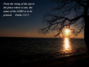 Bible Verse Sunset Over Mille Lacs Lake Photograph