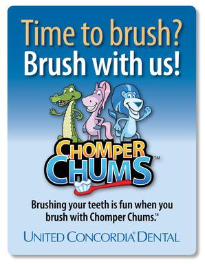 helps children learn proper dental hygiene by introducing three fun ...
