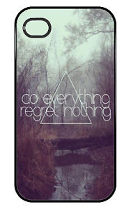 ... about Do Everything, Regret Nothing- Cute Quote Iphone Case 4/4s