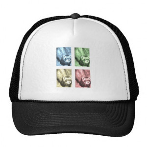 Ferret Faces Sayings and Quotes Trucker Hat