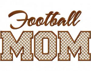 Football Mom Applique Machine Embroidery Design