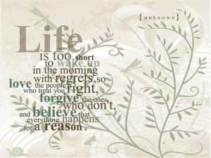 Short life quotes, life short quotes, short quotes