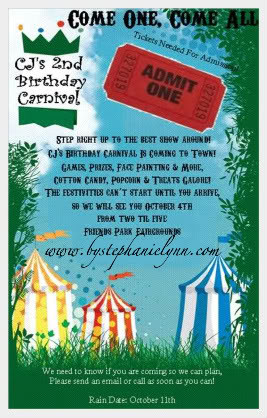 Quotes Picture on Carnival Birthday Party With Games Creative Party ...