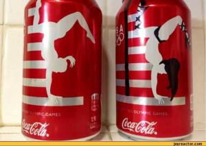 funny pictures auto coca cola can olympics striper
