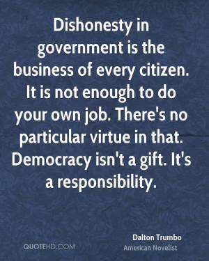Dalton Trumbo Government Quotes