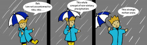 2013. Rain drops. Rain boots. Rain clouds. More Rain.