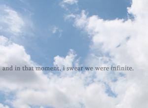 blue, infinite, quote, sky