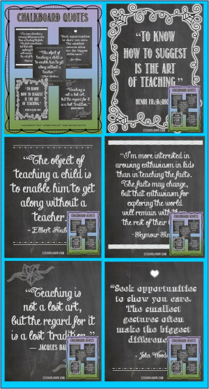 ... quotes to display in your classroom, home office, or the teachers