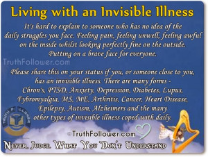 Supporting People Living with an Invisible Illness Quotes