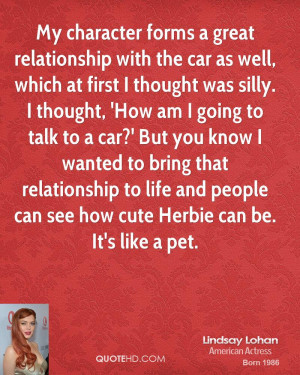 My character forms a great relationship with the car as well, which at ...