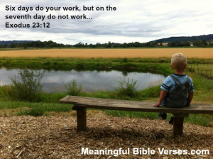 This Sabbath rest Bible verse and devotional will help you understand ...