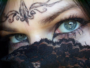Hermosos ojos de Medio Oriente