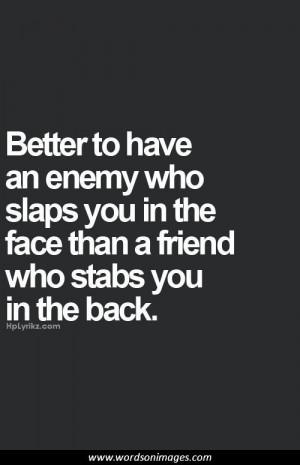 Backstabbing friend quotes