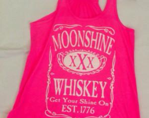... Whiskey XXX Get Your Shine On Flowy Racerback Florida Georgia Line